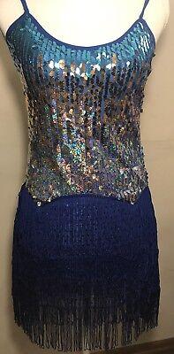 Ballroom Dance wear Latin Rumba Cha Cha Performance Dress for GIRL M -size - Ballroom Dresses For Girls