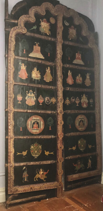 Glorious Set Of Antique Beautifully Painted Indian Doors