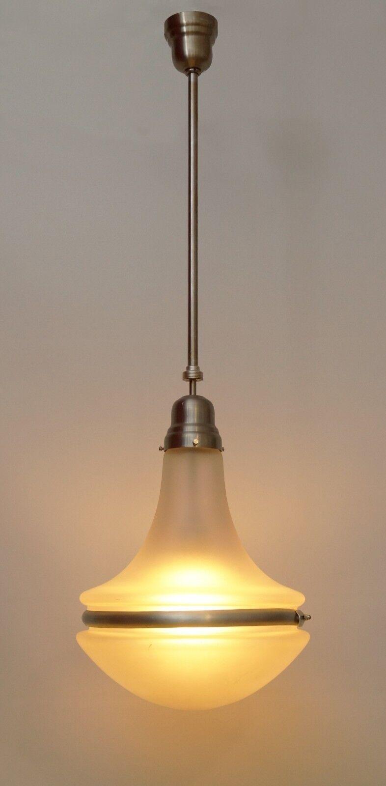 Details about unique art deco ceiling light hanging lamp siemens luzette stainless steel