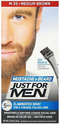JUST FOR MEN Color Gel Mustache - Beard M-35 Medium Brown 1 ea