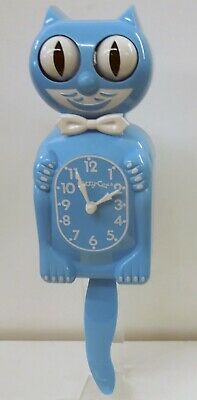 LIMITED EDITION KITTY-CAT CLOCK IN SCUBA BLUE MADE IN THE USA