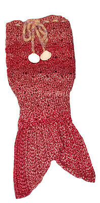 "Handmade Crocheted Mermaid Tail For 18""-24"" American Girl Doll Seashells"