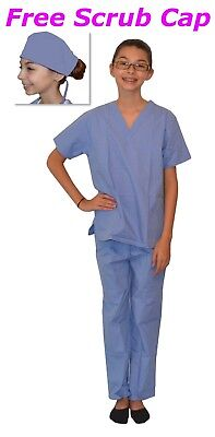 Kids Scrubs Ceil Blue REAL Childrens Doctor and Nurse Scrub Sets - Nurse Costume Kids