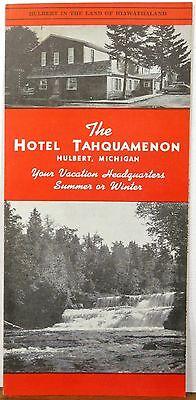 1960's early 70's Hotel Tahquamenon Hulbert Michigan vintage brochure & map