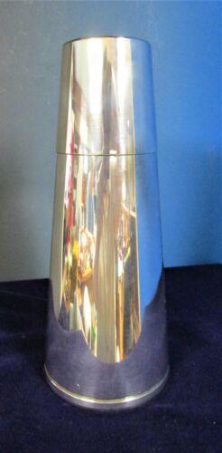 NAPIER Silverplate Cone Cocktail Shaker Art Deco Design Emil Schuelke 1934