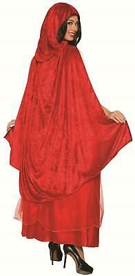Classic Red Riding Hood Dress and Cape Adult Costume Standard Size 14-16 Adult Classic Red Riding Hood
