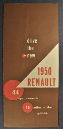 1950 Renault 4CV Sedan Sales Brochure Folder Excellent Original 50