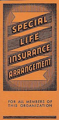 1930S 40S Hercules Insurance Brochure  Mans Income   Women Must Be Single  Orig