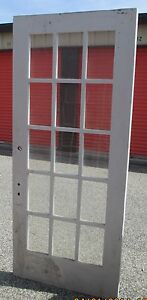 Interior or exterior 15 pane glass door approx 36 x 82 ebay for 15 panel glass exterior door