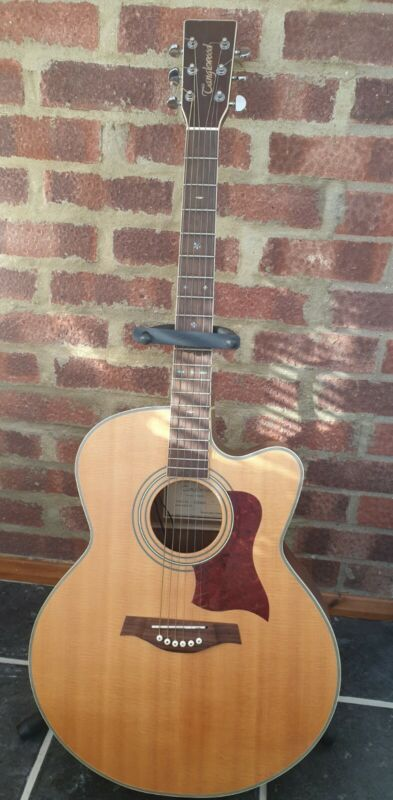 Tanglewood TW55 NS electro acoustic guitar with case