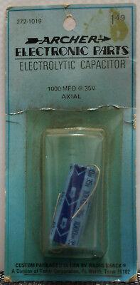 Archer Electrolytic Capacitor 272-1019 - 1000 Mfd 35v Axial - Nos