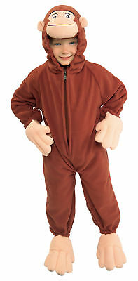Boy George Halloween Kostüme (Curious George Cute Fleece Monkey Jumpsuit Child Boys Costume Halloween Rubies)