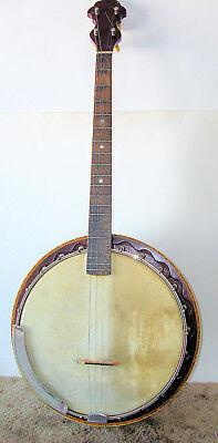 1920'S George Washburn (?) Tenor Resonator Banjo (HYBRID), 22  Hooks