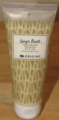 Origins Ginger Burst Savory Body Wash 2.5 Oz Shower Gel Cream Deluxe Travel