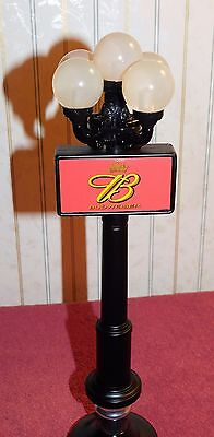 Rare BUDWEISER BEER Victorian 5 Globe LAMP POST Light Up TAP HANDLE Mint In Box!
