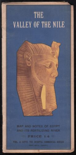 """EGYPT  1920/30 AUGUST RUSENBERG MAP """" THE VALLEY OF THE NILE """""""