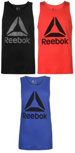Reebok Delta Herren Ärmelloses T-Shirt Tshirt Tank Top Weste Vest Fitness 0034