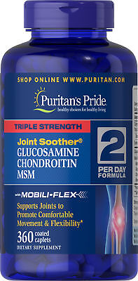 Puritans Pride Triple Strength Glucosamine Chondroitin MSM J