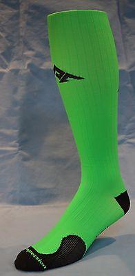 Neon Green Socks (2 pr Performance Athletic Compression Running/Recovery Socks, Neon Green Sx)