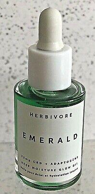 HERBIVORE EMERALD Glow Oil .34 OZ 10ml *DELUXE TRAVEL SIZE - NEW *