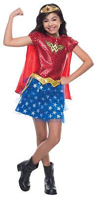 Wonder Woman Tutu Kinder Mädchen Kostüm Umhang und Tiara Superheld - Superheld Kostüm Tutu