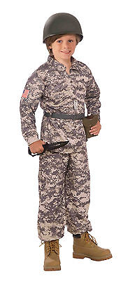 Kids Desert Soldier Military Army Costume Camouflage  Size Large 12-14 - Desert Army Costume