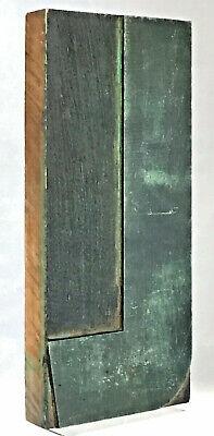 Large Wood Letter L Letterpress Print Type Printers Vintage Printing Patina 8