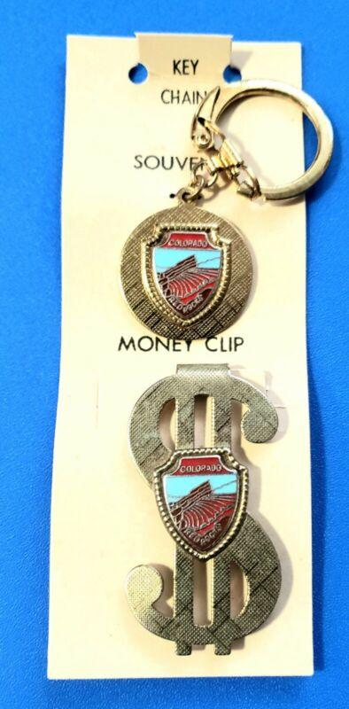 Red Rocks Amphitheatre Souvenirs Keychain + Money Clip Vintage Morrison Co