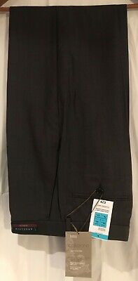 M&S Collezione Exclusive Superfine 140's Pure Wool Trousers Chocolate 34/31 -