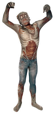 Morph Zombie Child Boys Costume Bodysuit Halloween Fancy Dress Morph Suits - Boys Morph Suits