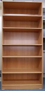 New Beech Office Storage Bookcase Adjustable Shelves Bookshelf Melbourne CBD Melbourne City Preview