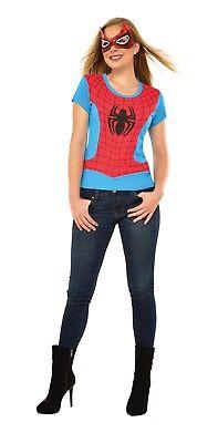 Spiderman Girl Kostüme (Rubies Spider-Girl Spiderman Kostüm Top Maske Erwachsene Halloween Kostüm 810422)
