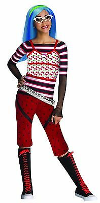 Monster High Childrens Costumes (Girls Monster High Ghoulia Yelps Costume Fancy Dress Goulia Kids Child S M L)