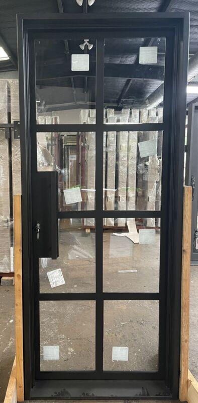 """Wrought Iron single door 32"""" X 81"""" , Modern Wrought Iron Door"""