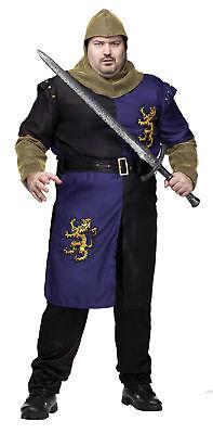 Renaissance Ritter Erwachsene Plus Herren Kostüm Mittelalterlich Gallant
