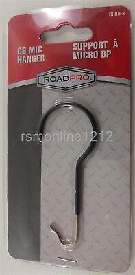RoadPro RPHH-2 CB Radio Metal Buddy Hook / Steel Microphone Holder -