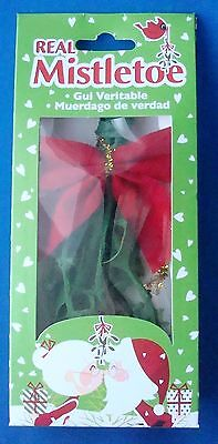 """Christmas Real Mistletoe Dried One Bunch 5""""x2½"""" New Years Holiday Party Decor"""