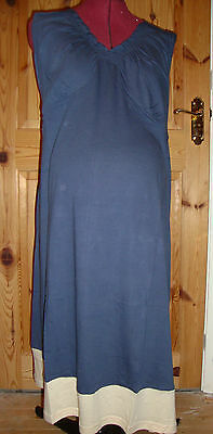 BNWT Ladies MATERNITY Blue/Cream Nightdress Size L - 14-16