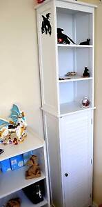 Tall Bookcase Display Shelf with door Safety Bay Rockingham Area Preview
