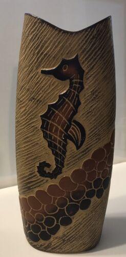 Brown Seahorse/ Coastal Vase - $9.99