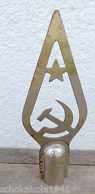 Antike Sowjetische Fahnenspitze mit Hersteller