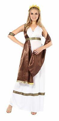 WOMENS GREEK GODDESS ROMAN TUNIC TOGA FANCY DRESS ACCESSORIES - Womens Toga Kostüm