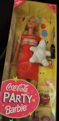 Coca Cola Party Barbie Special Edition 1998 Mattel New in Box