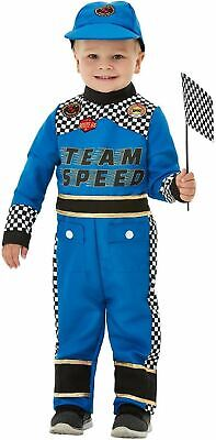 Boys Racing Car Driver Costume Kids Fancy Dress Outfit Formula one sports rally - Kids Car Costume