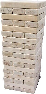 Giant Tumbling Blocks Tower Game Play To 5ft Wood Outdoor Kids Adults Lawn Yard](Adult Outdoor Games)