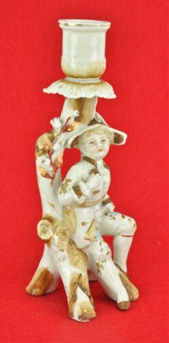 Vintage Figural Porcelain Candlestick with boy. Impressed Mark,(BI#MK/180805)