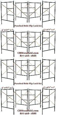 Cbm Scaffold Eight Set Flip Lock 5 X 67 X 7 Masonry Scaffolding Frame Set