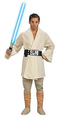 Luke Skywalker Deluxe Men Adult Costume Star Wars Tunic & Belt Dress Rubies](Deluxe Luke Skywalker Costume)