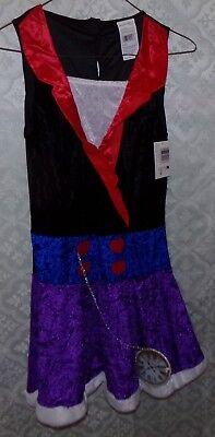 Alice Im Wunderland Teen Einheitsgröße Nwt Halloween Kostüm Neu Taschenuhr Kleid