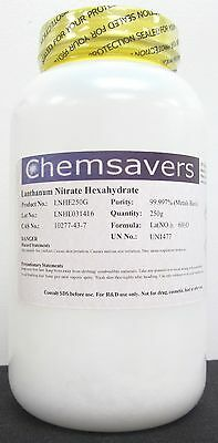 Lanthanum Nitrate Hexahydrate 99.997 Metals Basis Certified 250g